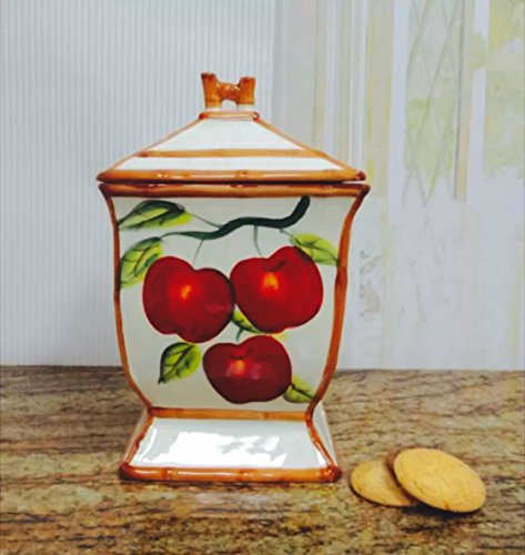 Italian Red Apple Cookie Jar