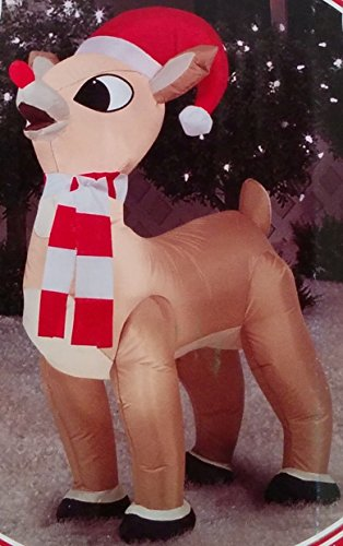 35ft-Inflatable-Standing-Rudolph-with-Santa-Hat-and-Scarf