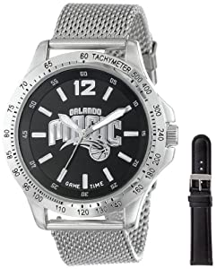 Game Time Mens NBA-CAG-ORL Cage NBA Series Orlando Magic 3-Hand Analog Watch by Game Time