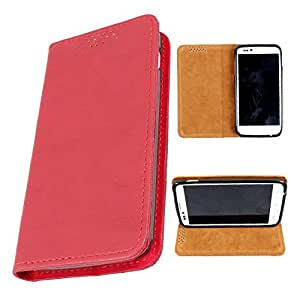 i-KitPit PU Leather Flip Case For Samsung Galaxy Young (RED)