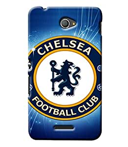 Clarks Chelsea Fc Hard Plastic Printed Back Cover/Case For Sony Xperia E4