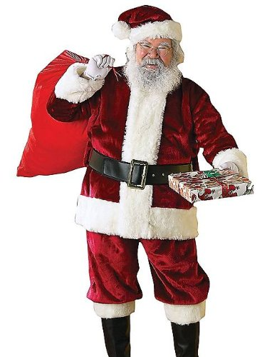 Rubie's Regency Plush Christmas Santa Claus Suit Adult Mens Costume, XXL (Twenties Costume Ideas)