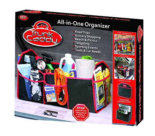 As Seen on TV TC-12 Black with Red Trim Trunk Caddy All-In-One Trunk Organizer with Hot and Cold Storage Pouch (As Seen On Tv Products Auto compare prices)