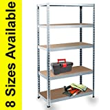 Mammut by Office Marshal - Heavy-Duty Steel Shelving - 8 Sizes Available - 875 kg. Capacity - 90x180x45