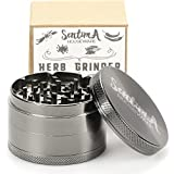 Sentima-Herb-Grinder-with-Pollen-Catcher-25-Inch-4-Piece-Zinc-Crusher-for-Weed-Tobacco-Spices