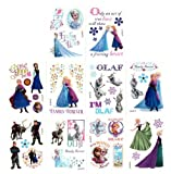 Disney Frozen Temporary Tattoos (Set of 10 Sheets)(Includes Princess Anna, Queen Elsa, Olaf, Kristoff and Sven)