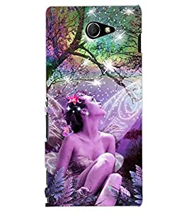 ColourCraft Angel Design Back Case Cover for SONY XPERIA M2 DUAL D2302