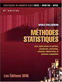 M�thodes statistiques : Avec applications en gestion, production, marketing, relations industrielles et sciences comptables (1C�d�rom)