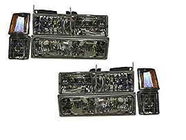 GMC Yukon Full Size Jimmy CK 8Piece Euro Headlight Set With Xenon Bulbs