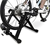 BalanceFrom Bike Trainer Stand Steel Bicycle Exercise Magnetic Stand with Front Wheel Riser Block, Black (Color: Black)