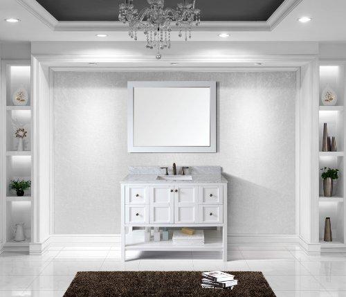 Virtu Usa Es-30048-Wmsq-Awh Winterfell 48-Inch Single Bathroom Vanity Set, White