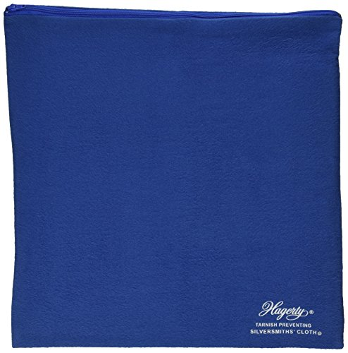 Hagerty 19400 9-by-12-inch Zippered Holloware Bag, Blue (Silver Protection Cloth compare prices)