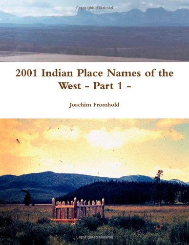 2001 Indian Place Names Of The West - Part 1 - front-1031054