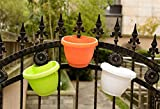SunnyCZ 1Pcs Colorful Hanging Planter Downspout Drain Pipe Flower Pot Garden Decor Plastic Flowerpot Random Colors