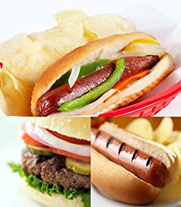 45 Piece Premium Bison Bundle Burgers Hot Dogs Italian Sausages - 10 Off Sale Ships Free from BodyByBison