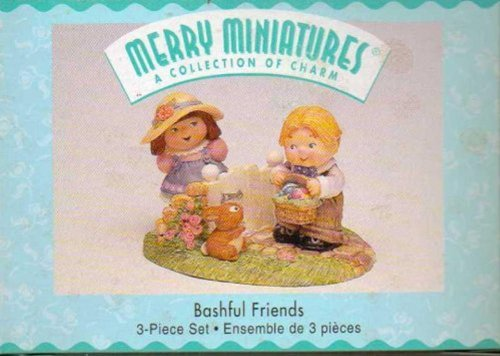 Bashful Friends Merry Miniatures A Collection of Charm 3-Piece Set QSM8459 - 1