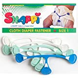 Snappi Cloth Diaper Fasteners - Pack of 5 (2 Mint Green, 2 White, 1 Blue)
