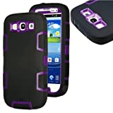 myLife (TM) Black and Purple - Rugged Robot Armor Series (3 Piece Neo Hybrid Flexi Case + Urban Body Armor Glove... by myLife Brand Products