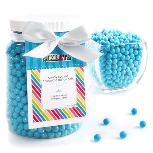 Blue Sixlets - Baby Shower & Birthday Party Candy - 1/2 Gallon front-146489