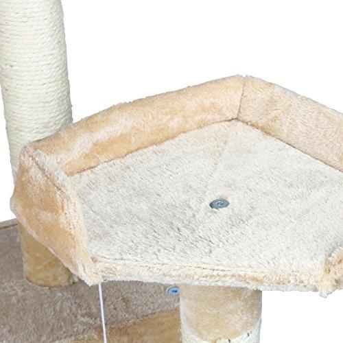Katzen Kratzbaum mittelhoch ca. 170cm beige mit vielen Spiel und Kuschelmöglichkeiten