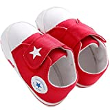 waylongplus Lienzo infantil Prewalker suave Suela antideslizante Cuna zapatos Love Impresión Slip-On Zapatillas rojo rosso Talla:12 (6-12 Months)