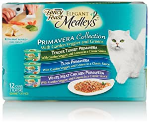 Fancy Feast Elegant Medleys, Primavera Collection 3-Flavor Variety Pack (12 Count, 3 Oz Each)
