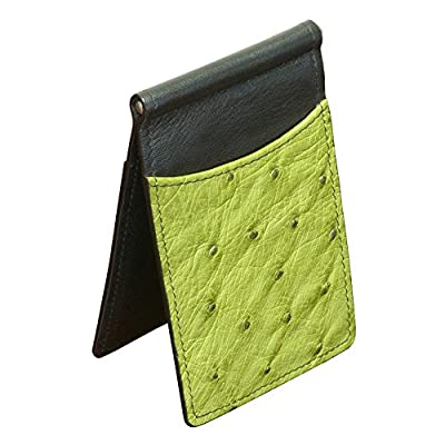 Ostrich Wallet With Money Clip Money Clip Wallet Green