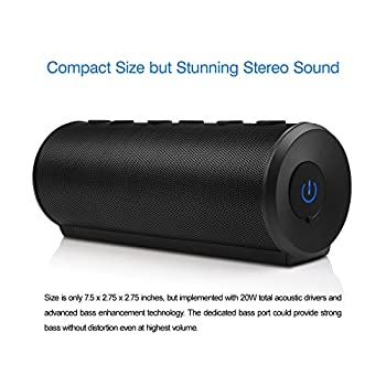 DKnight Big MagicBox Bluetooth 4.0 Portable Wireless speaker, 20W Output from Dual 10W Drivers , with Advanced Bass Enhancement Technology(Updated)