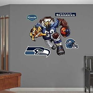 Buy Seattle Seahawks Die Cut RB Liquid Blue Fathead Wall Graphic by Fathead