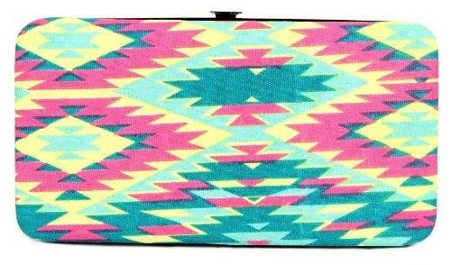 FreshGadgetz 1 Set di Portafoglio borsetta con chiusura a scatto motivo Azteco colore verde