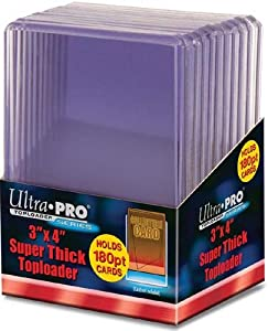Ultra Pro Topload Card Holder 3x4 180pt (10 Pack)
