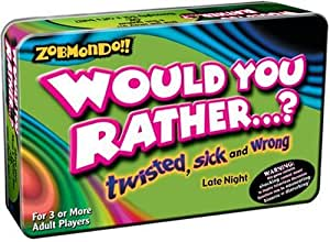 Zobmondo Would you Rather - Pocket Travel Version - Twisted, Sick and Wrong