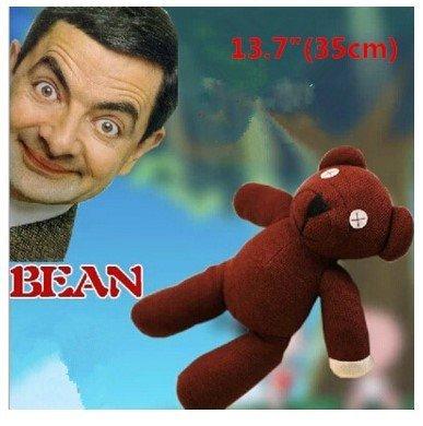 BIGFUNTOYS, 1pc of New Mr Bean Bear Animal Stuffed Plush Toy Brown Figure Doll, 35cm (Mr Bean Car compare prices)
