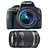 Canon EOS Rebel SL1 18.0 MP CMOS Digital SLR with 18-55mm EF-S IS STM Lens + Canon EF-S 55-250mm f/4.0-5.6 IS II Telephoto Zoom Lens