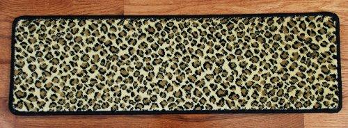 "Premium Carpet Stair Treads - Leopard 30"" x 9"""