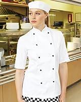 Dennys Lightweight Short Sleeve Chefs Jacket. DD20S