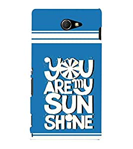 printtech Sun Shine Back Case Cover for Sony Xperia M2 Dual D2302::Sony Xperia M2