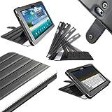 """igadgitz Schwarz 'ArmourDillo"""" Echt Leder Case Tasche für Samsung Galaxy Tab 2 P7500 P7510 10,1 3G & WiFi Android 3,1 Honeycomb Internet Tablet Rezessionen"""