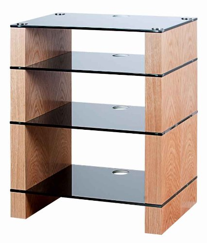 BLOK STAX DeLuxe 400 Four Shelf Oak Hifi Stand  &  AV TV Rack Unit