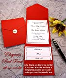 All-in-One Pocket Invitation Kit - Red Elegance - Pack of 20