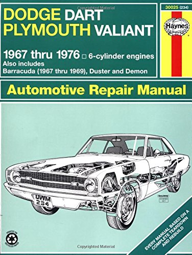 Haynes Dodge Dart And Plymouth Valiant, 1967-1976 (Haynes Manuals) front-602549