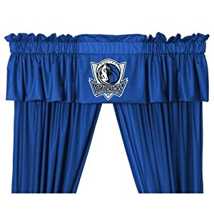 Dallas Mavericks Window Treatments Valance and Drapes by Sports Coverage