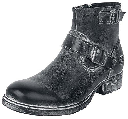 Rock Rebel by EMP Strapped Boots Anfibi/Stivali nero EU47