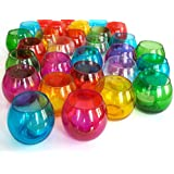 TiedRibbons® Gifts For Diwali T-lights Holder Set Of 24 (Glass, Multicolor) With Tealight Candles