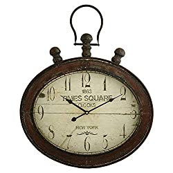 Aspire Remington Oval Wall Clock, Red