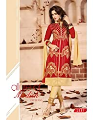 Typify Chanderi Semistitch Dress Material - B0180ODG6M