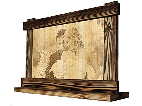 Bilder Holzbild Fotogravur Lasergravur Holzgravur Hochzeit, Hölzerne Hochzeit