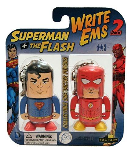 Factory Entertainment DC Write Ems (2-Pack), Superman/Flash - 1