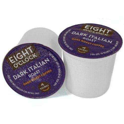 Eight O'Clock Dark Roast Coffee Dark Italian Roast -- 18 K-Cups