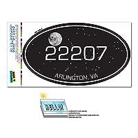 Zip Code 22207 Arlington, VA Euro Oval Window Bumper Glossy Laminated Sticker - Night Sky
